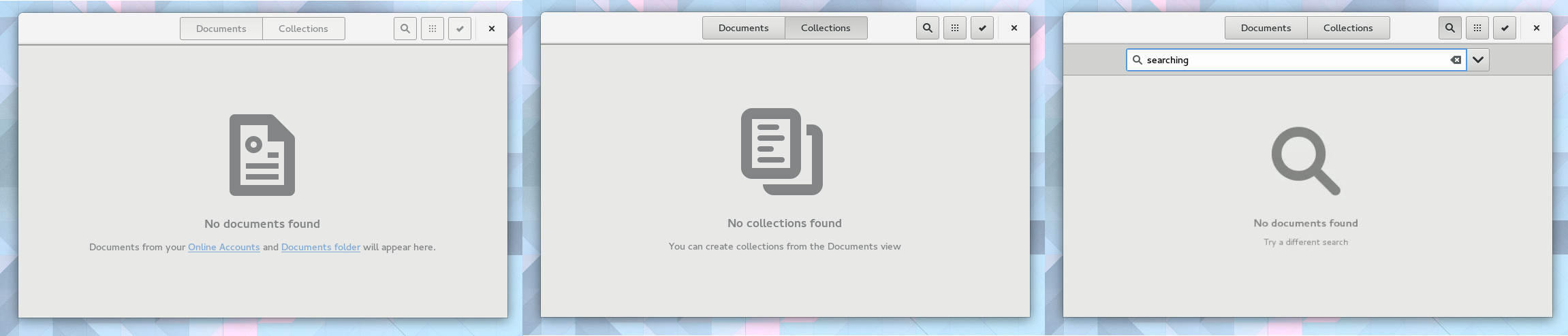gnome-documents-empty-states
