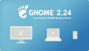 The GNOME 2.24 Splashscreen