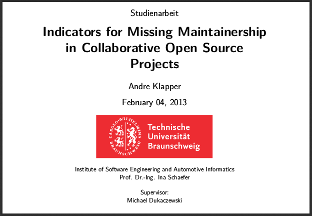 Indicators for Missing Maintainership in Collaborative Open Source Projects (PDF)