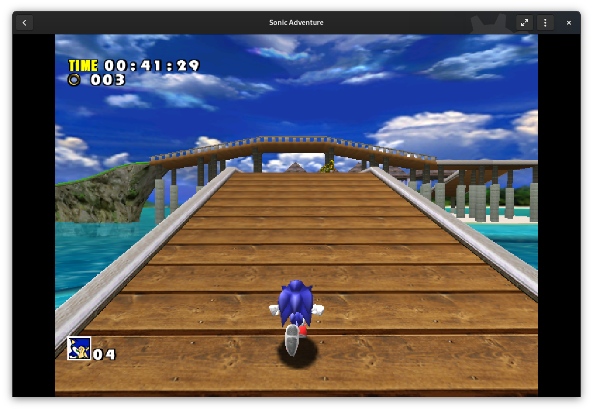 Sonic Adventure for Sega Dreamcast in GNOME Games