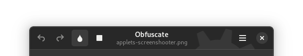 Obfuscate, with an open file, with unlinked buttons, no spacing