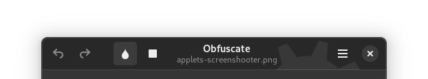 Obfuscate, with an open file, with unlinked buttons and spacing