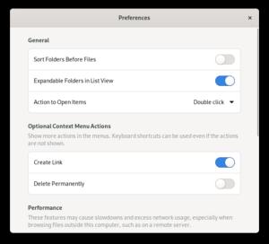 New Preferences design, top part