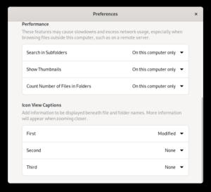 New Preferences design, bottom part