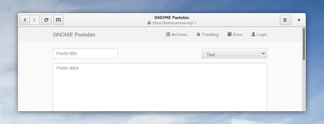 gnome-pastebin