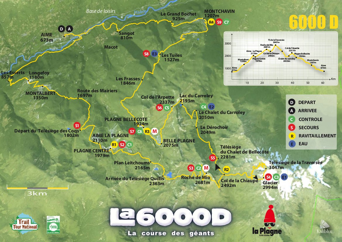 Map of the 6000D