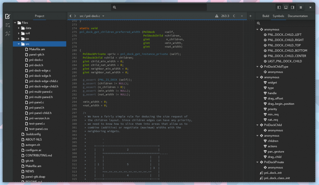 Screenshot of Builder 3.19.90 in with Dark Mode theme