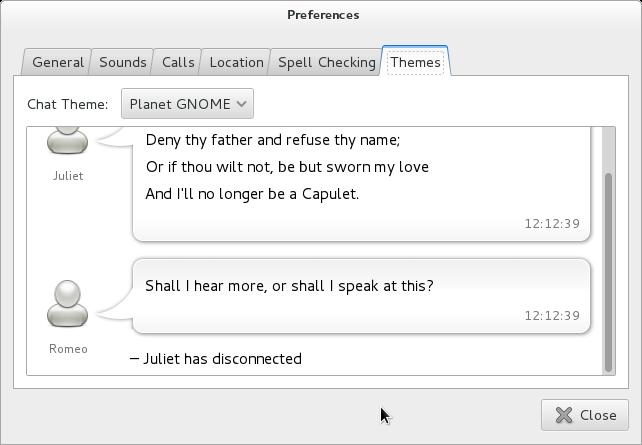 Planet GNOME Empathy Theme