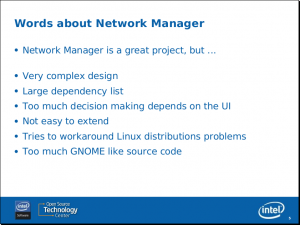 Supposed Words About NetworkManager