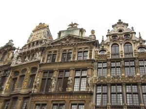 Buildings of Grand Place in Brussels, Belgium.