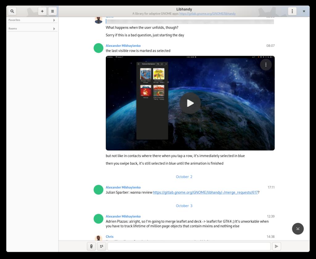 Captura de tela da visualização principal do Fractal, mostrando um novo estilo arredondado.