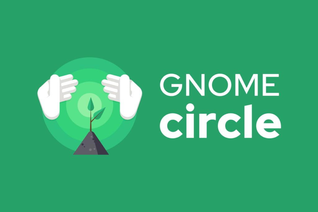 Logotipo do GNOME Circle em fundo verde
