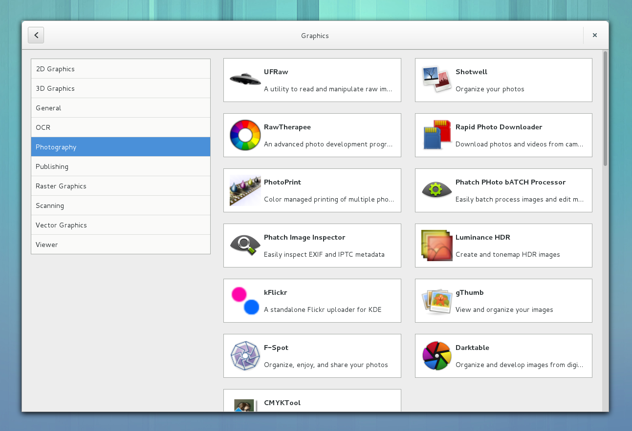 GNOME Software Graphics Category
