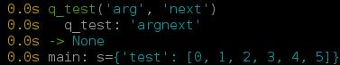 Python q output