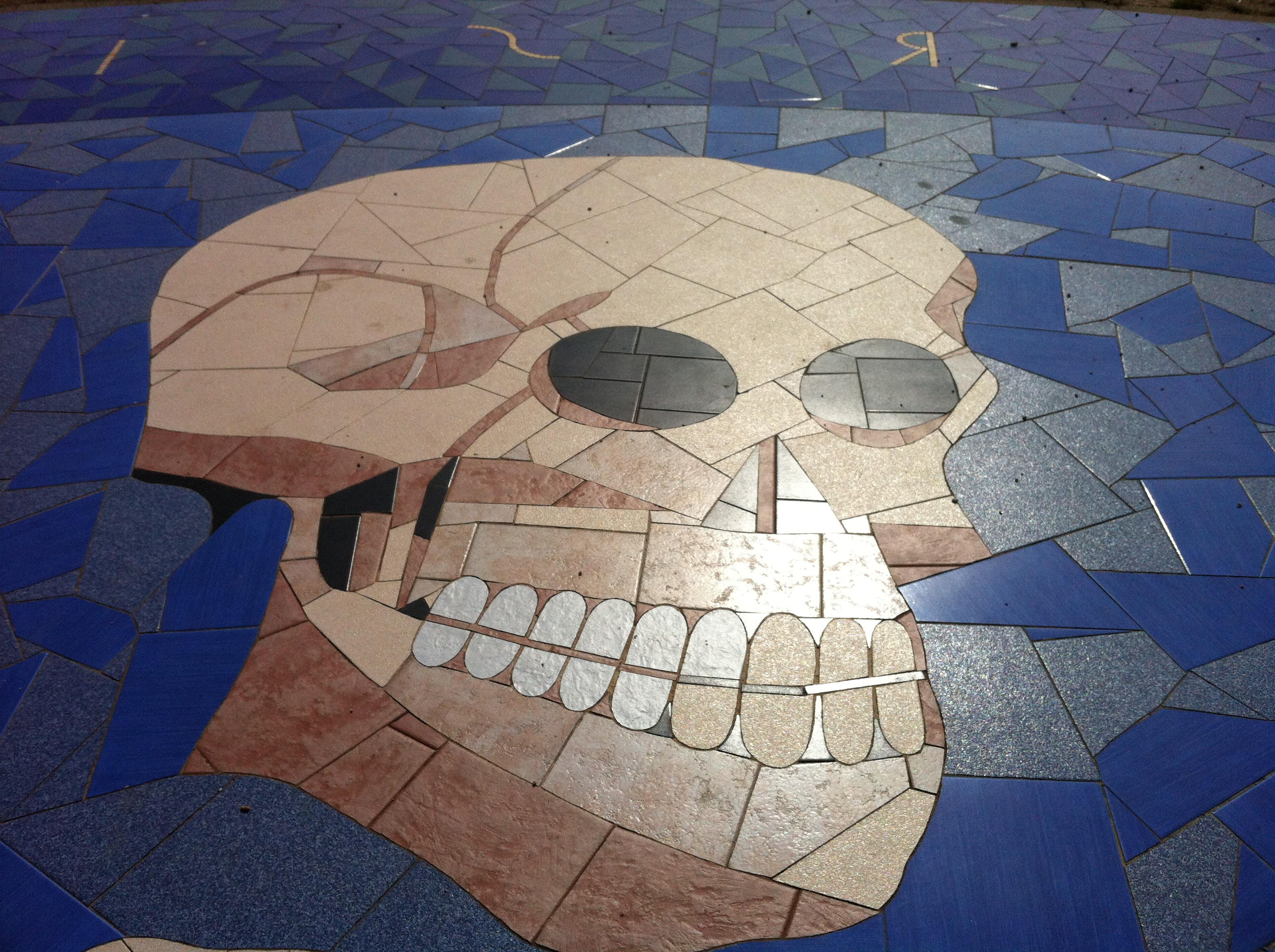 Skull at Tower of Hercules