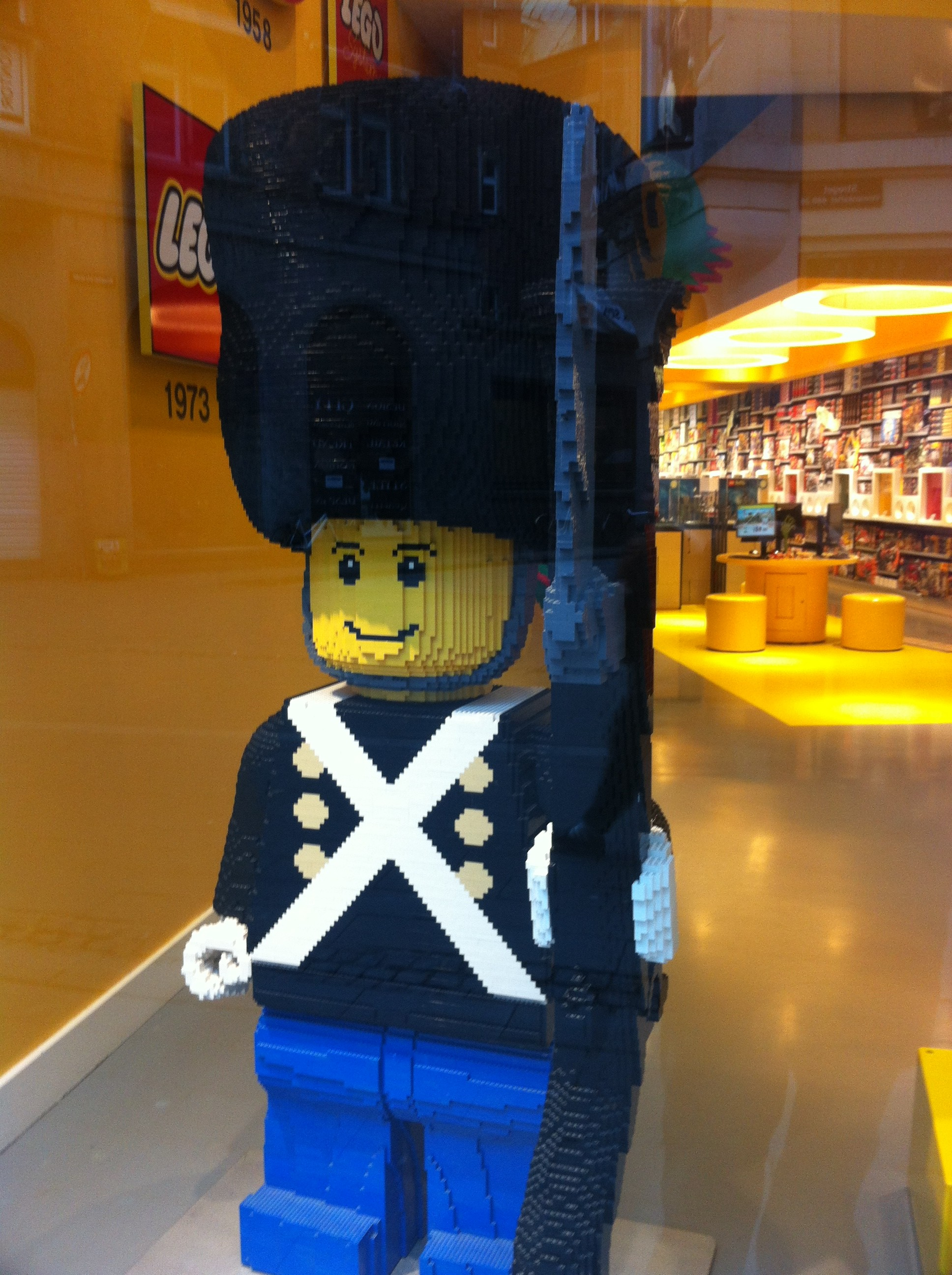Giant Lego soldier