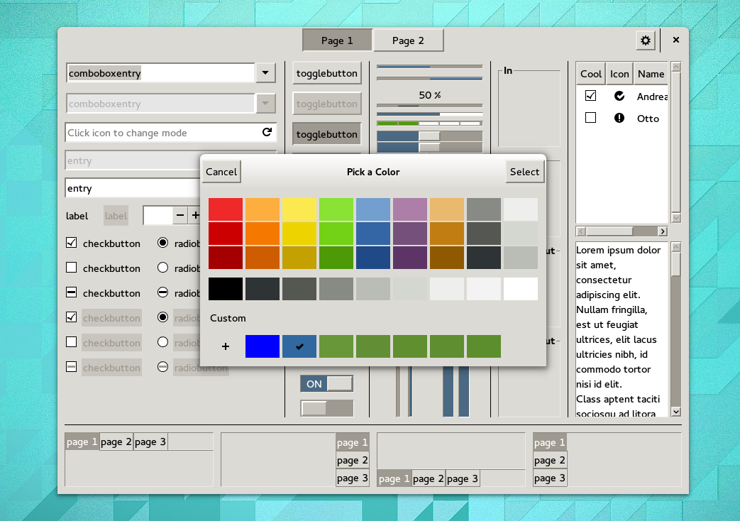 A new default theme for GTK+ | Goings on