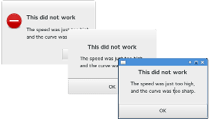 Error Dialogs
