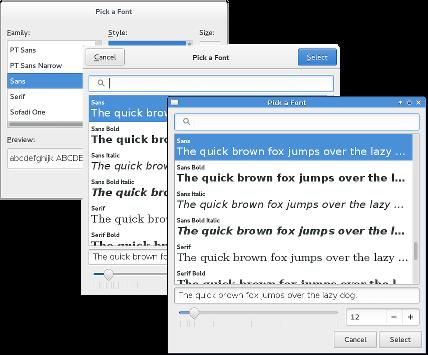 Font Dialogs