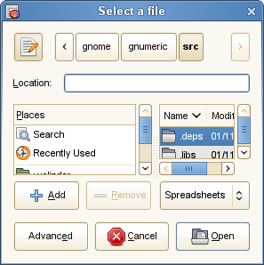 Gtk+ File Chooser Dialog