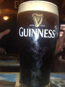 Freshly draught Guinness (~5€)