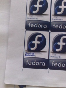 (Broken) Fedora stickers