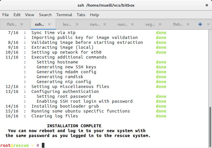 "Installing a ""full"" disk encrypted Ubuntu 16 04 Hetzner server"