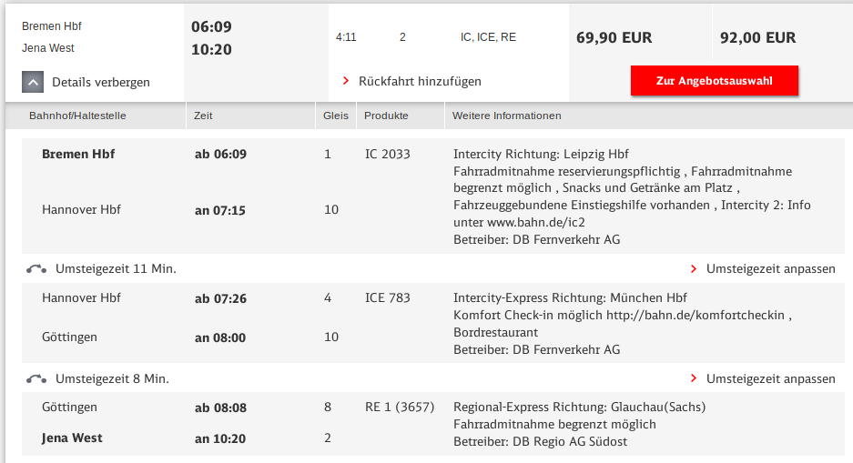 Search results for going through Goettingen