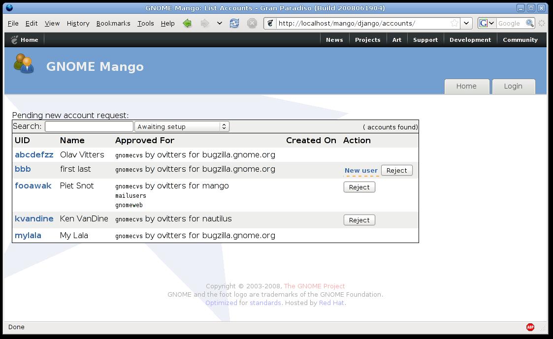 Mango Django branch