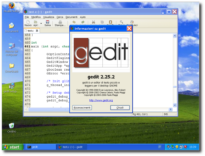 gedit on windows