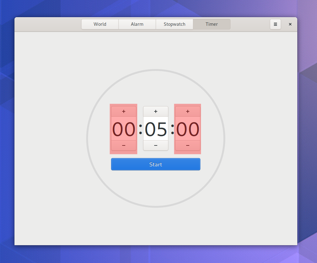 Example of GNOME Clocks being partially redrawn