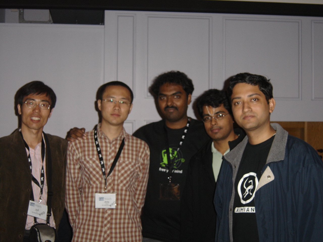 Jeff Cai, Jedy Wang, Me, Varadhan and Parag