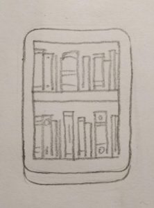Book shelf sketch