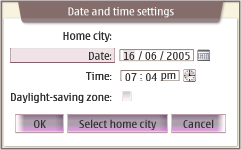 date icon. Clicking the calendar icon on