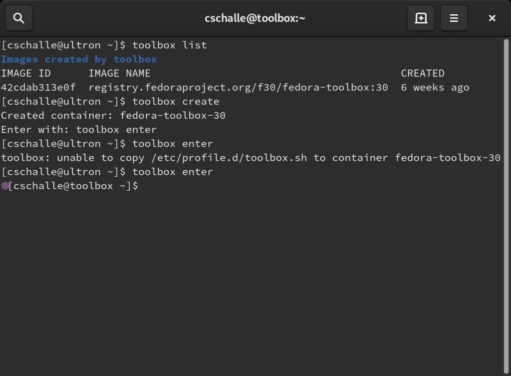 Fedora Toolbox