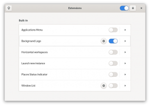 GNOME Extensions app