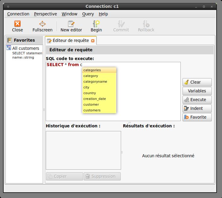 SQL editor completion