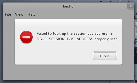 Bustle not crashing when it can't connect to the bus.