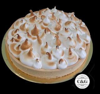 Lemon pie with Italian meringue